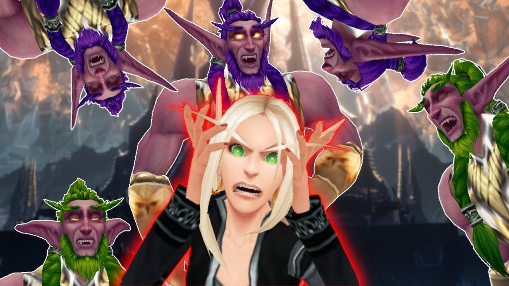 WoW Blood Elf rugido elfo de la noche druidas risa título título 1280x720