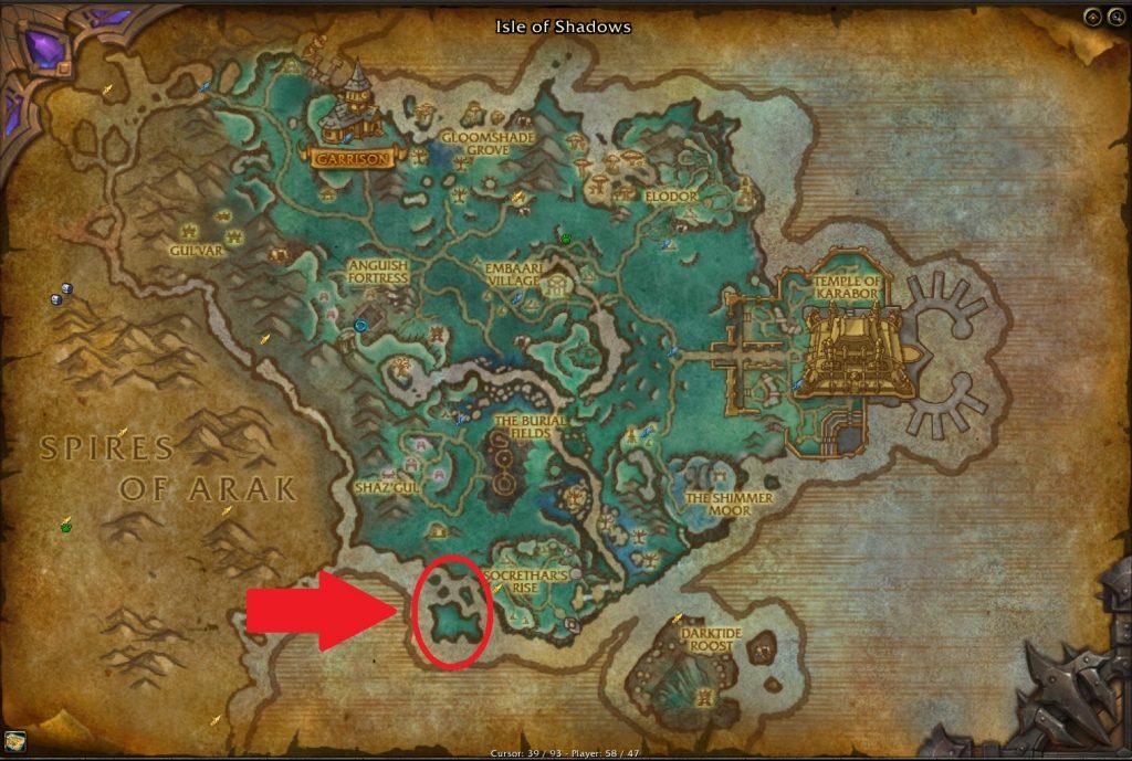 Mapa de puntos de granja de monedas de muchas caras
