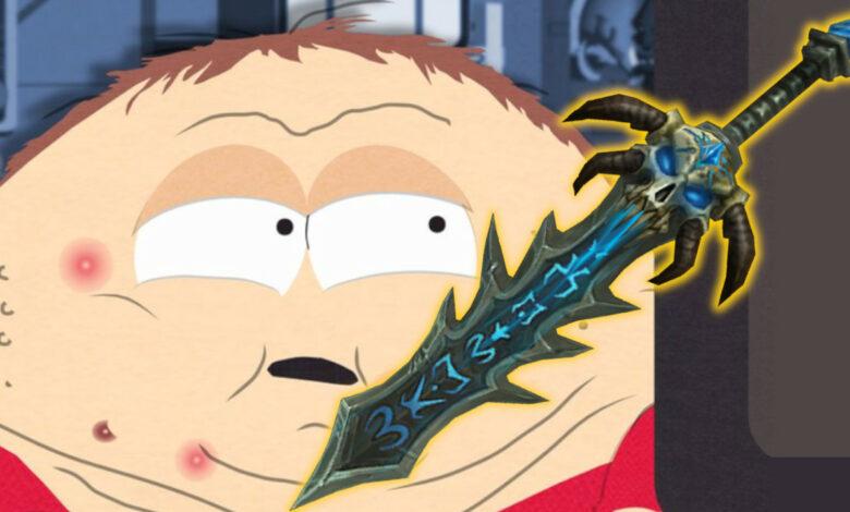 """WoW: La legendaria espada """"South Park"""" finalmente está de regreso"""