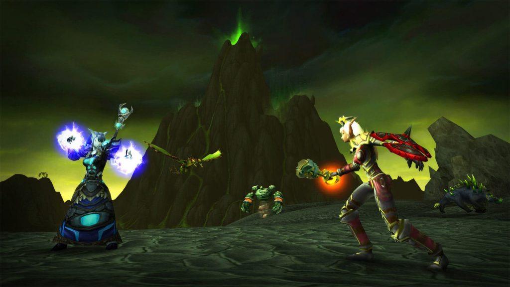 Captura de pantalla de WoW BC Classic Draenei Blood Elf