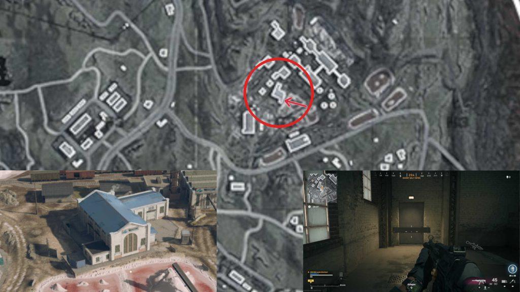 ubicación de la zona de guerra de bacalao de la puerta de la muerte