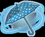 parasol de lunares azul y blanco ffxiv