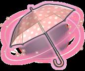 parasol de lunares rosa y blanco ffxiv