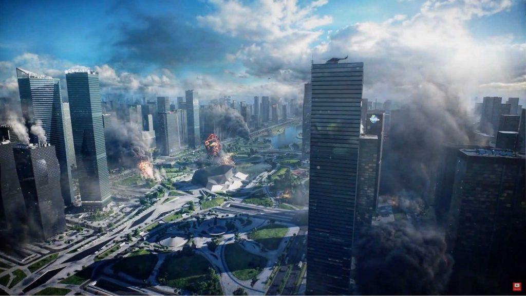 trailer del mapa de la ciudad de Battlefield 2042