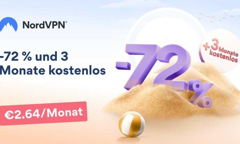 NordVPN en la oferta de verano: ahora 72% de descuento y 3 meses gratis