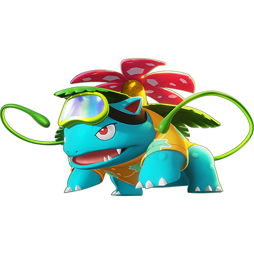 Diseño de Bisaflor de Pokémon Unite