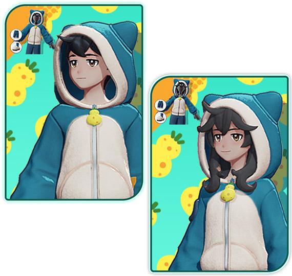 Comparación de la sudadera con capucha Pokémon Unite Trainer Snorlax