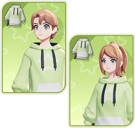 Comparación de suéter verde Pokémon Unite Trainer