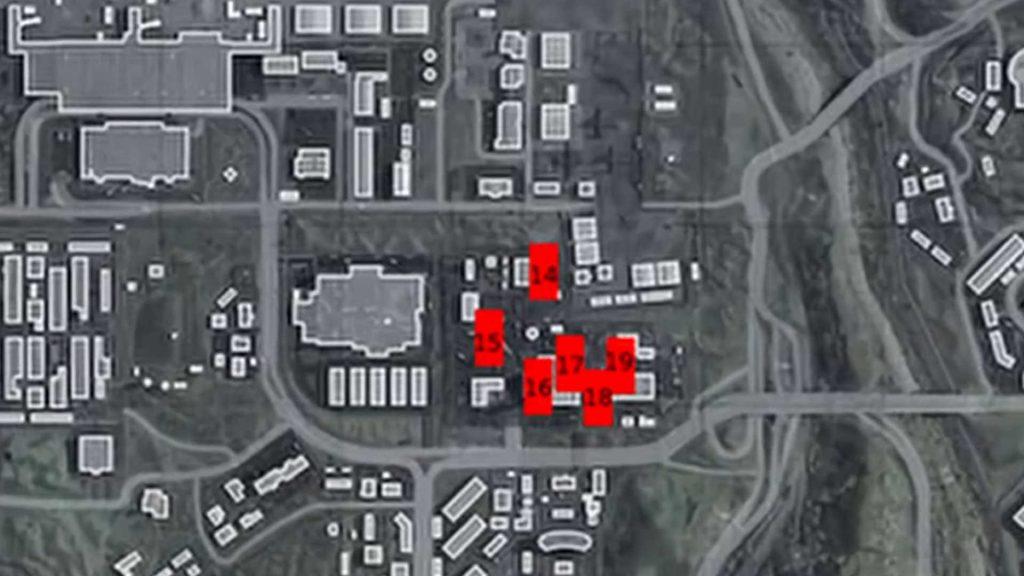 Cod warzone puertas rojas 14-19 en fábrica