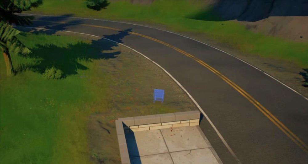 fortnite lazy lake ubicaciones de letreros de bienvenida