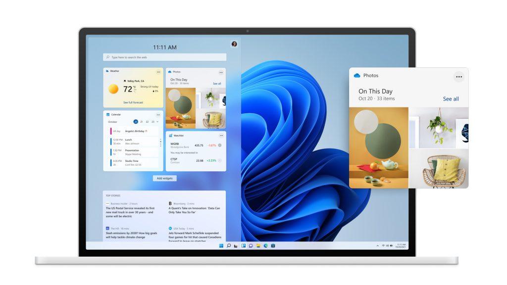 Windows 11: widget y suministro de noticias