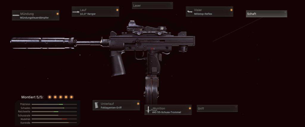 cod warzone milano 821 configurar armas temporada 4