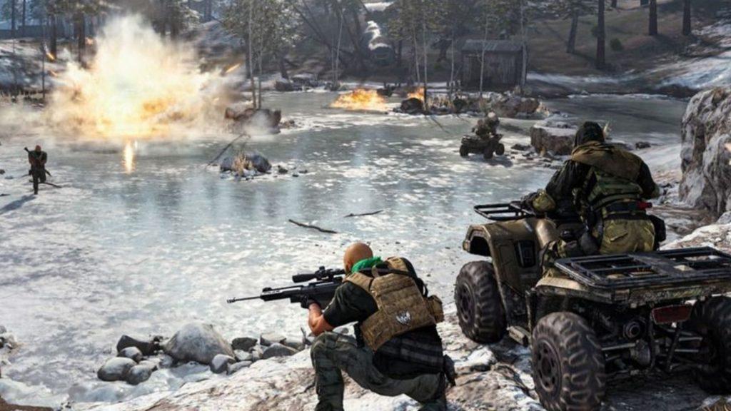 Lucha de agua de CoD Warzone