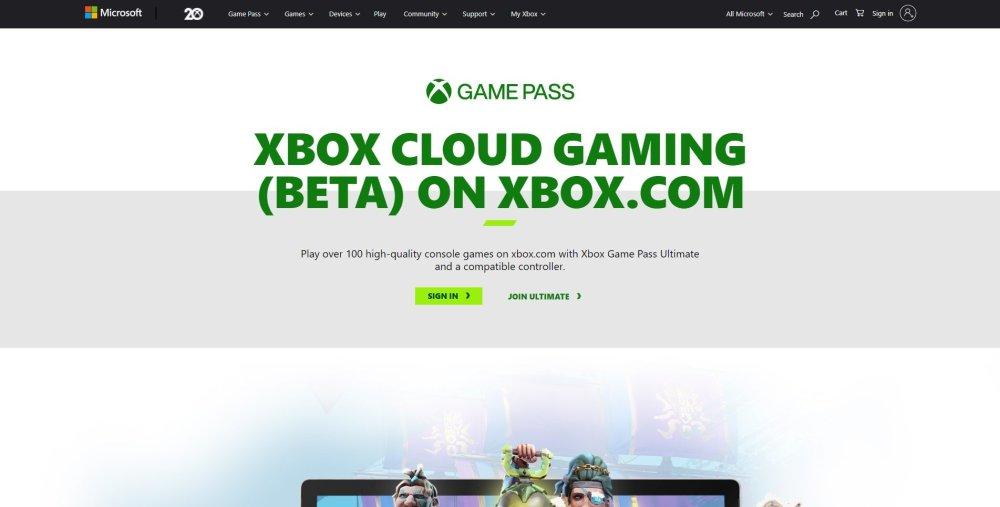 juegos en la nube navegador xbox ios windows 10