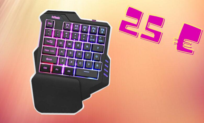 Compré un teclado de una mano para mi PS4 y PC, así de bueno es el teclado por 25 €