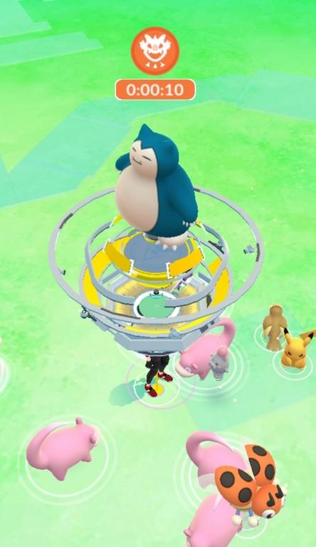 Pokémon GO Arena Snorlax Raid