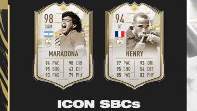 FIFA 21: DCP de Maradona y Henry Icon Prime Moments disponibles