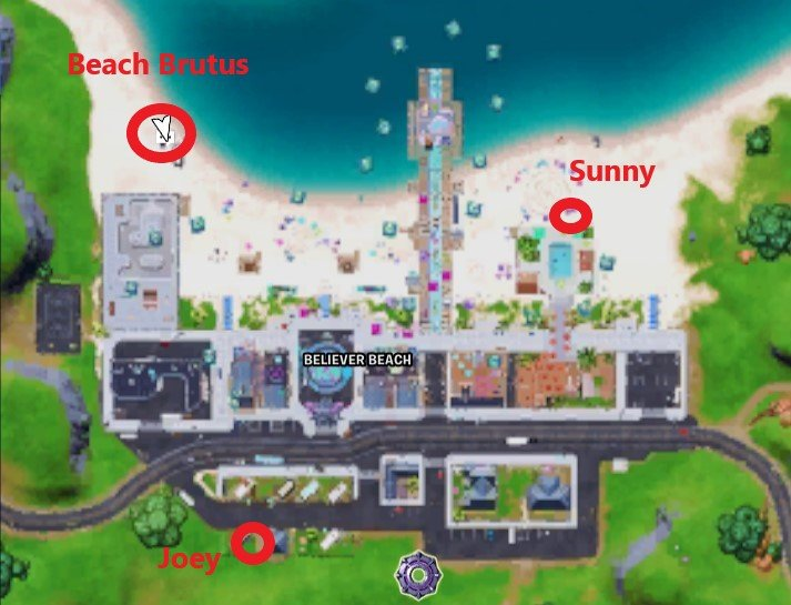 Ubicaciones en el mapa de Brutus Joey Sunny Beach