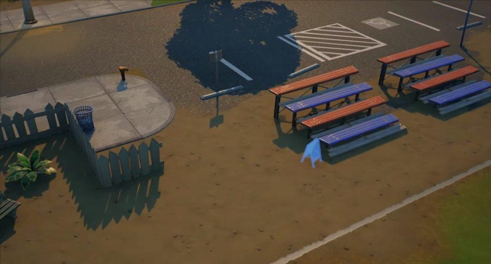 ubicaciones de letreros de bienvenida de placentera park fortnite