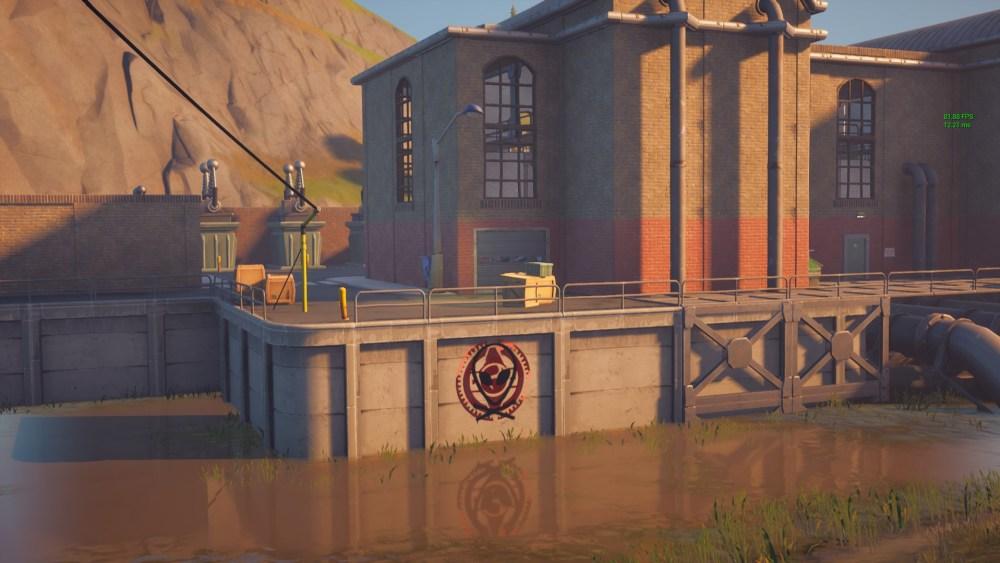 fortnite hydro 16 muro cubierto de graffiti
