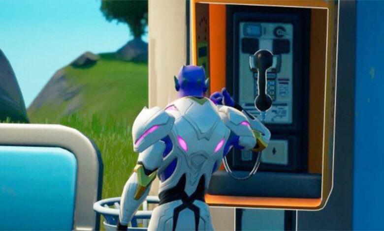 Fortnite: entonces toma un pedido con un teléfono público - desafío de la temporada 7