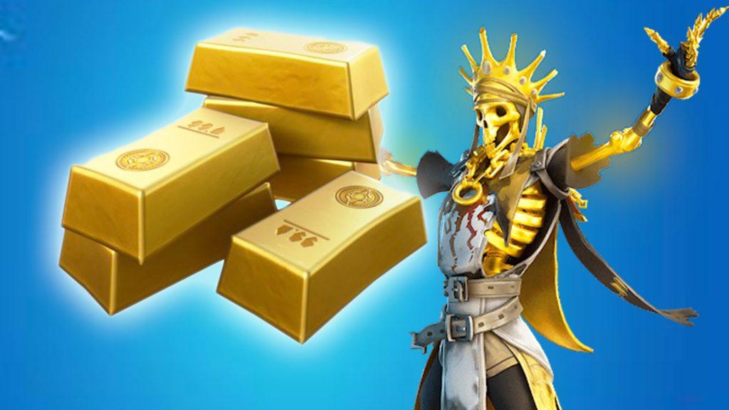 barras de oro fortnite título rápido