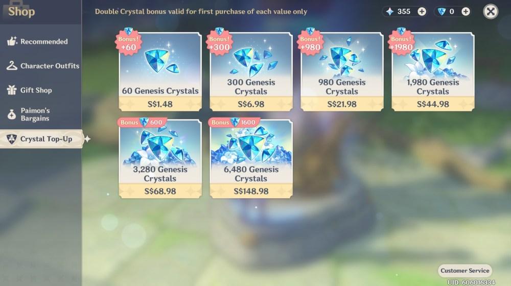 cristales de génesis de impacto genshin