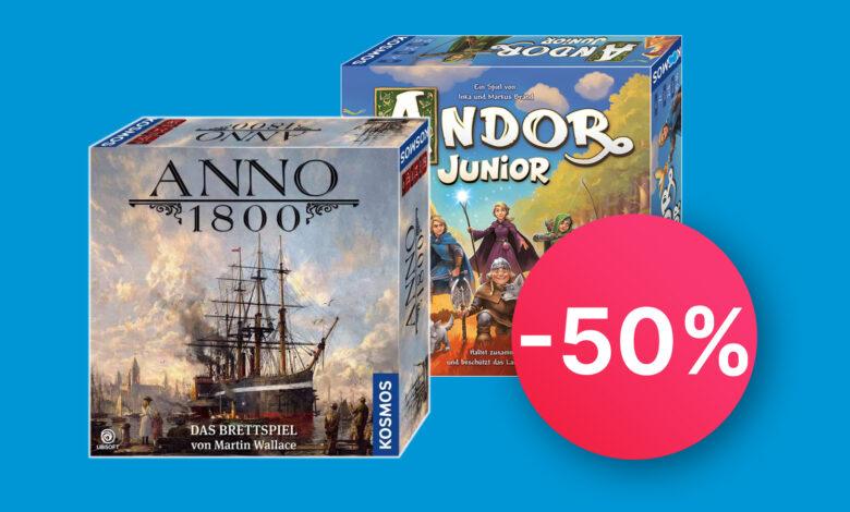 Juegos de mesa en Prime Day: Anno 1800, Andor Junior y Catan