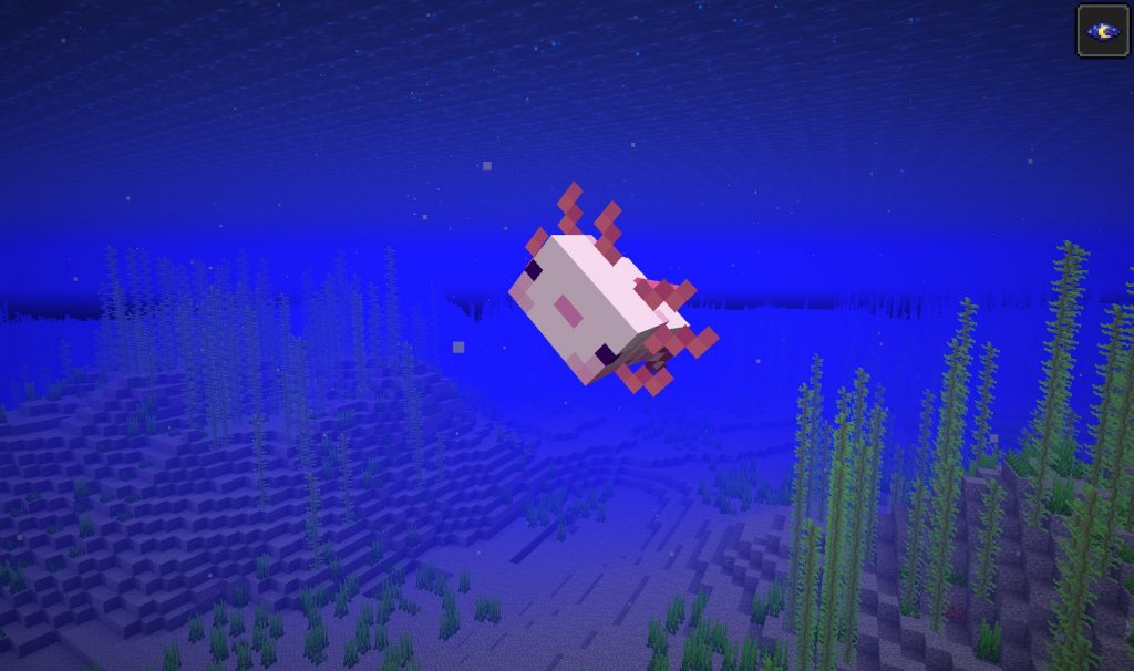 Minecraft Axolotl Jugando Muerto