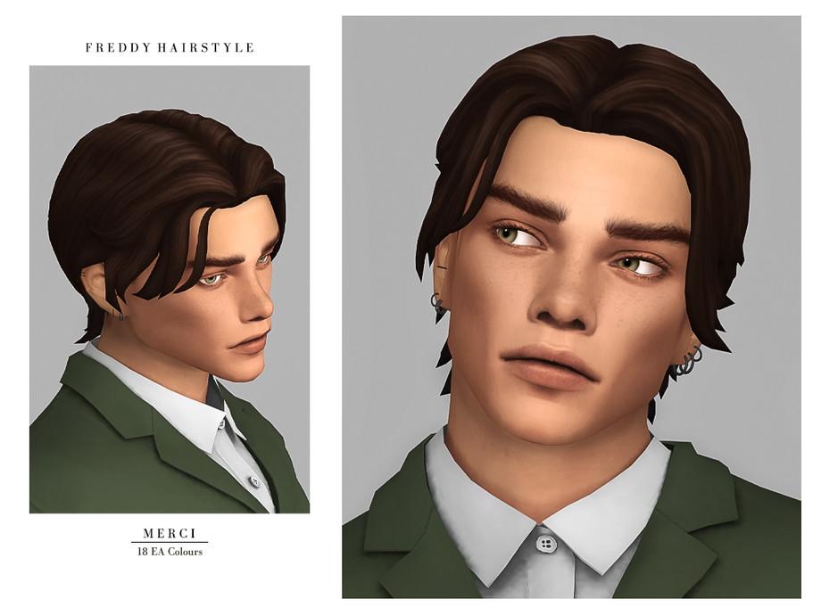 Sims 4 - Freddy Hairstyle by -Thanks- - Nuevo peinado Maxis Match para Sims4. -Para hombres, adolescentes. -Compatible con el juego base.