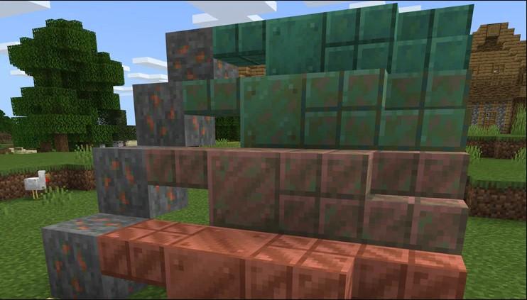oxidación de cobre de minecraft