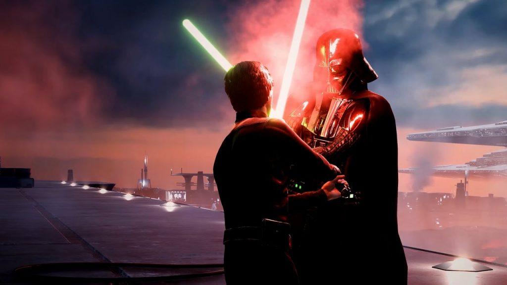 Battlefront 2 Luke contra Vader