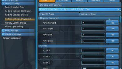 Phantasy Star Online 2 (PSO2) New Genesis - Controles de teclado y combinaciones de teclas