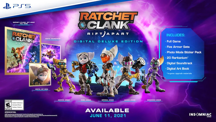 ratchet and clank rift apart pre-order dlc, ratchet and clank rift apart digital luxury edition dlc
