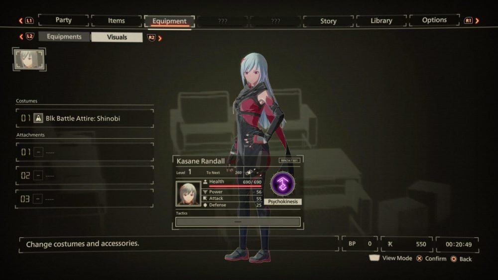 Scarlet nexus cambiarse de ropa