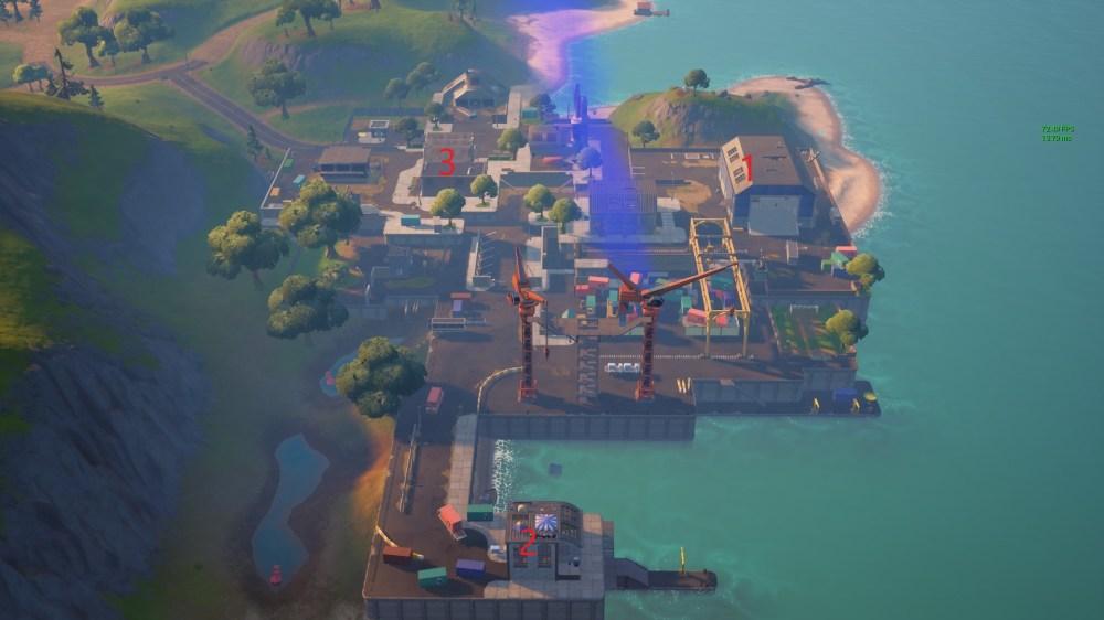 Latas de aerosol sucias de Fortnite Docks