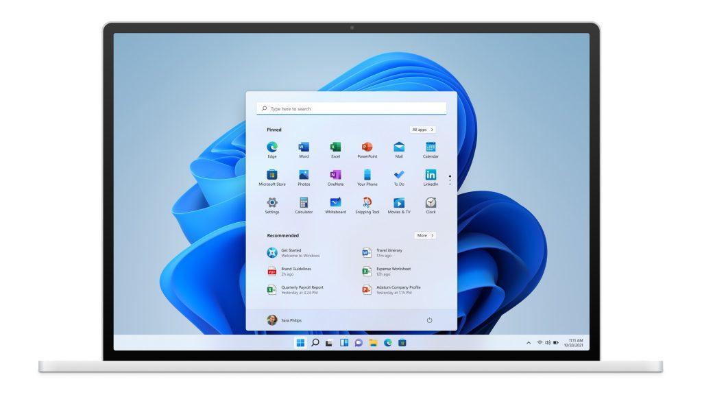 Windows 11: menú Inicio