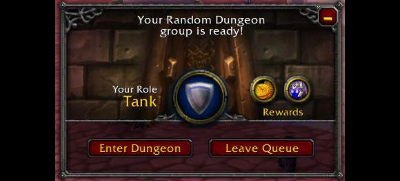 Tanque buscador de mazmorras de World of Warcraft