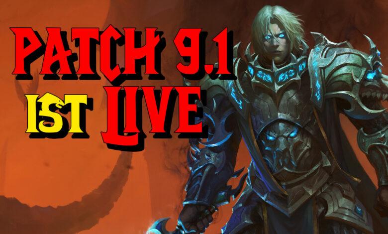 WoW: Patch 9.1 Chains of Dominion ya está disponible - Toda la información sobre el lanzamiento