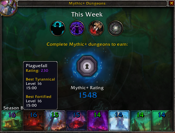 Calificación de WoW Mythic Plus