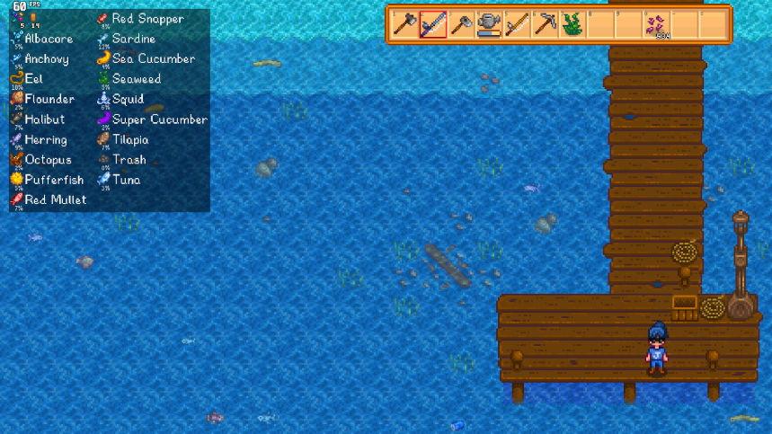superposiciones de información de pesca