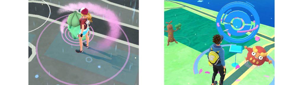 Pokemon Go círculos humo y módulo