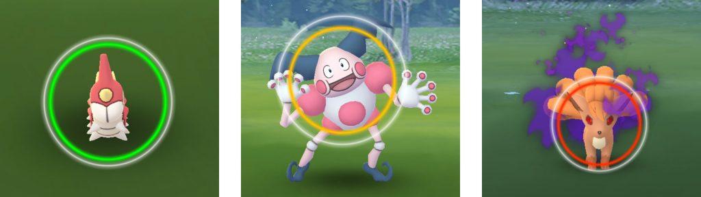 Círculos de captura de Pokémon Go
