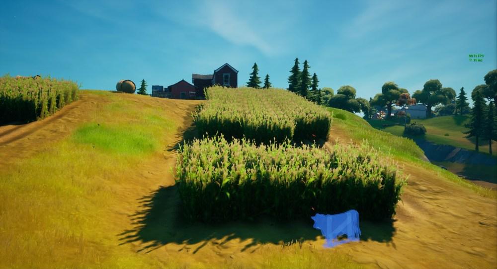 ubicaciones de señuelos de vacas fortnite