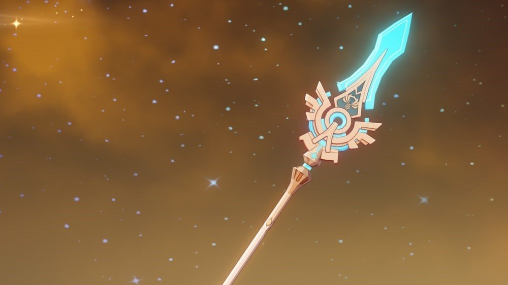 Imagen de la columna vertebral al cielo Impact Genshin