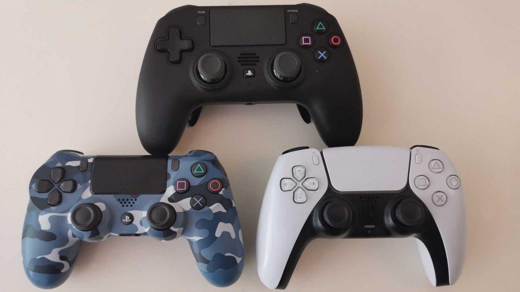 powera fusion pro wireless para ps4 comparación de tamaño PS4 controlador PS5