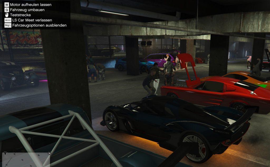 Opciones de vehículos de GTA Online en Car Meet
