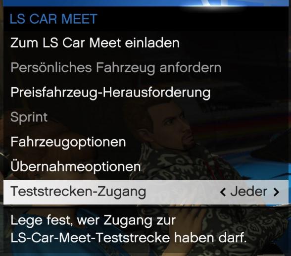 Menú de interacción LS Car Meet