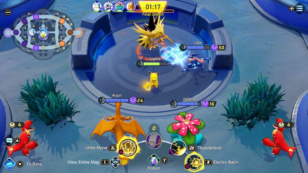 Captura de pantalla 2 de Pokémon Unite
