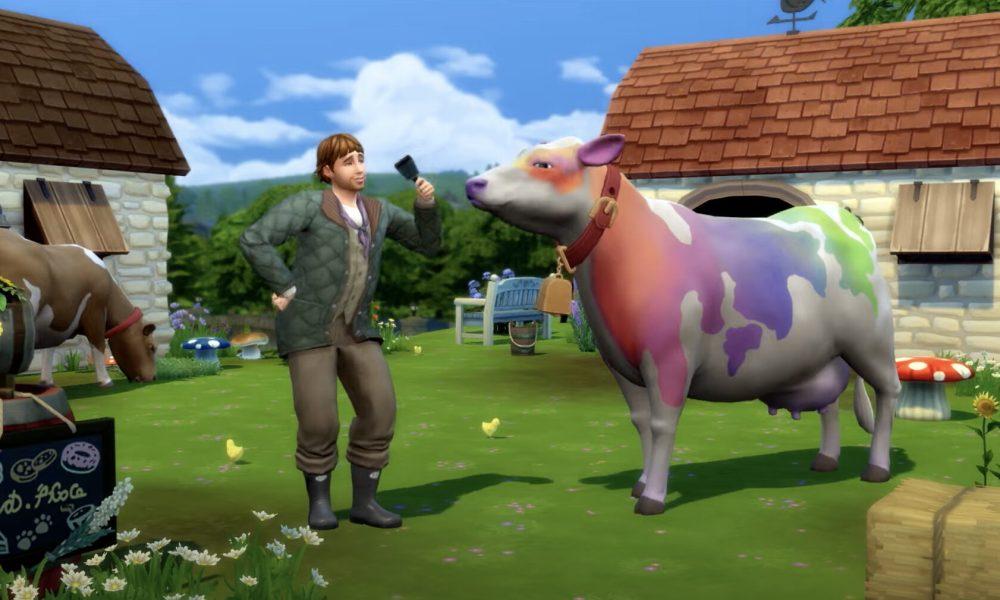 Sims 4 Vaca Arcoiris